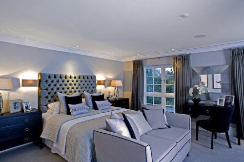 简约风个性灰色卧室装修设计图