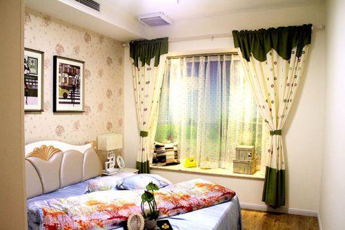 简约风格自然浪漫米色卧室飘窗设计图