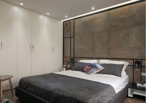 灰色大气简约风格卧室装潢欣赏
