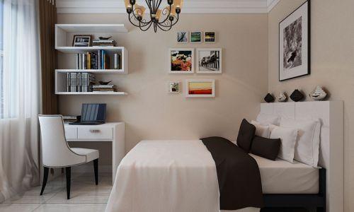 休闲简约风格米色卧室设计图片