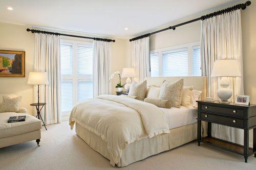 米色极致简约风卧室装修设计2016