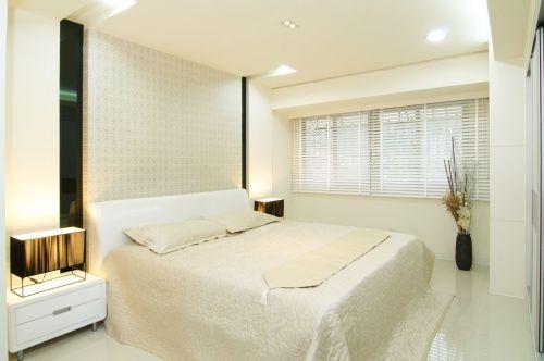 白色简约风格卧室装修美图欣赏