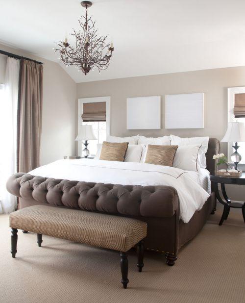 淡雅温馨简约白色卧室设计图片