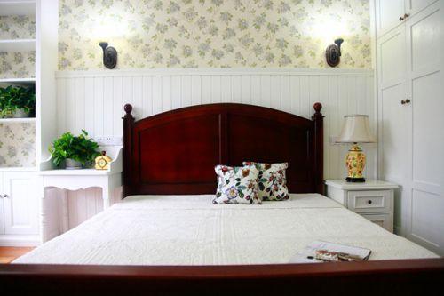 田园风格素雅米色卧室装修美图欣赏