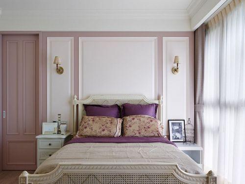 紫色浪漫田园风格卧室布置