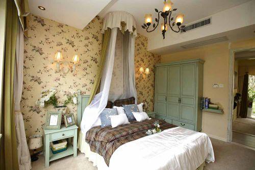 田园风格温馨卧室装修效果图