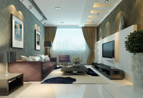 简约风格客厅地台设计图片