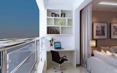 现代简约客厅工作区图片欣赏