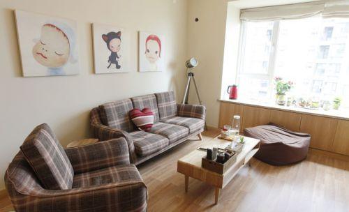 和风日式简约客厅背景墙设计