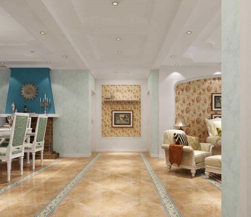 地中海风格客厅过道设计