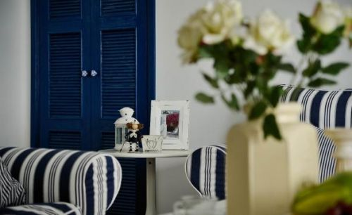 地中海风格客厅背景墙设计效果图