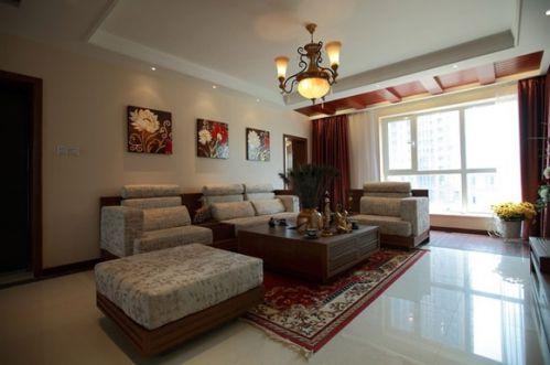 東南亞風情三居客廳飄窗設計