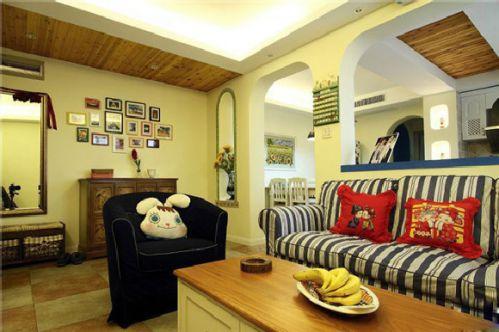 浪漫地中海家居客厅照片墙欣赏