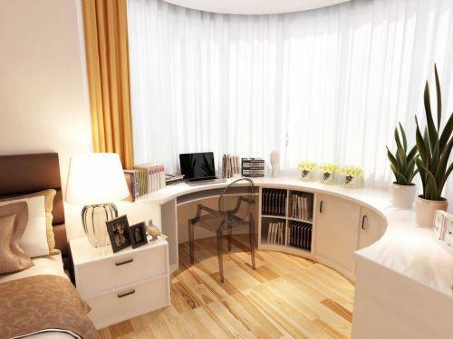 106平米简约风格卧室工作区设计