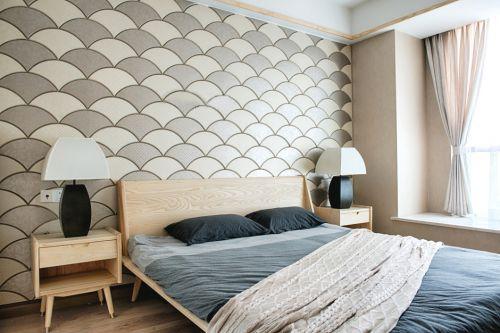 107平日式风格卧室背景墙设计