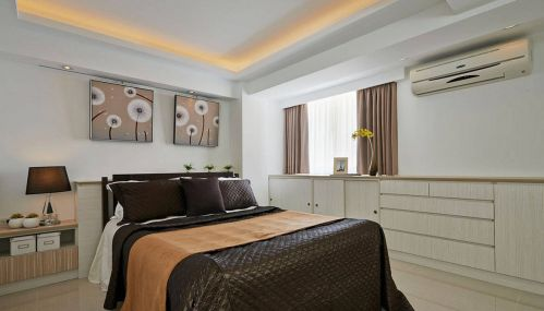 现代简约卧室收纳柜装修案例图片