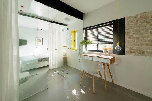 清新现代公寓卧室工作区图片