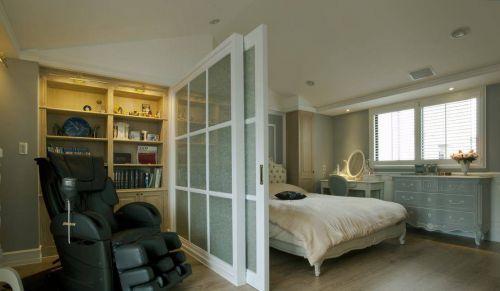 美式四居卧室收纳柜设计图片