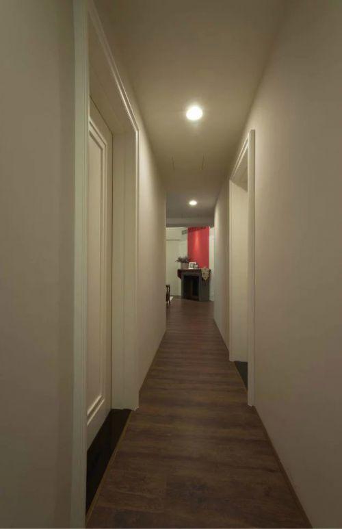 美式现代风格卧室过道设计图片