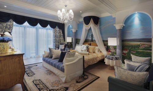 豪华地中海别墅卧室装饰设计