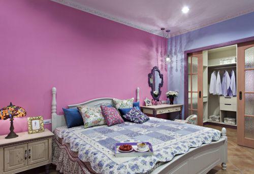 地中海复式卧室背景墙效果图
