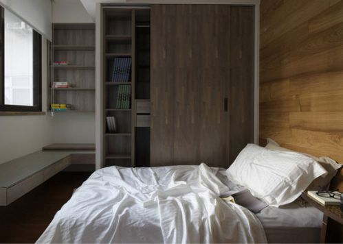 88平米简约日式风格卧室背景墙效果图