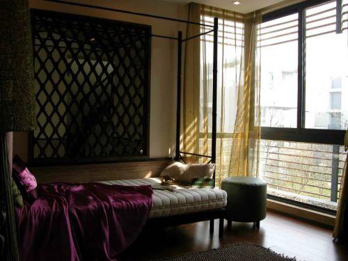 東南亞臥室飄窗裝修風格圖片