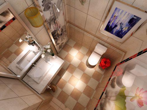 舒适中式风格三居室卫生间装修效果图