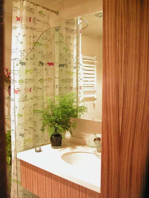东南亚风格卫生间浴室镜装修图片