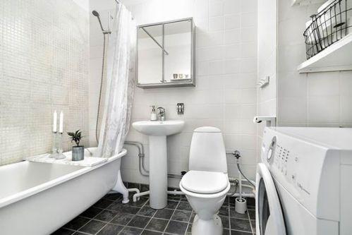 舒适北欧风格三居室卫生间背景墙效果图