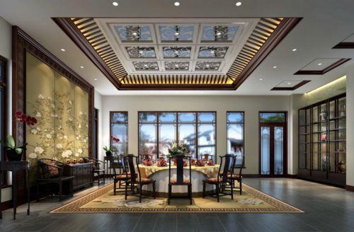 中式别墅餐厅装修图片