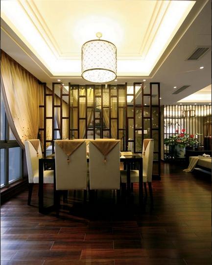 中式花园别墅餐厅效果图片