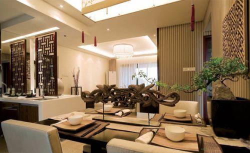 中式风格餐厅图片大全2015
