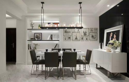 最新美式风格餐厅照片墙图片