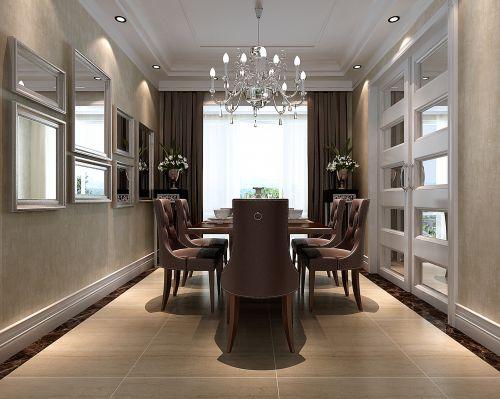 美式风格餐厅窗帘图片
