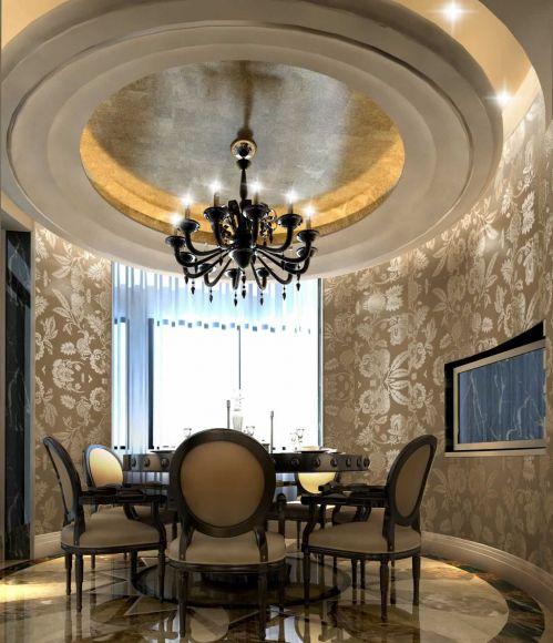 美式简约餐厅飘窗设计