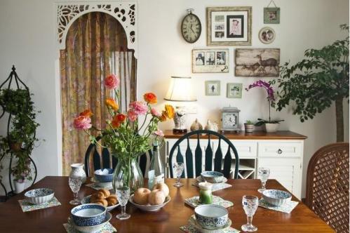 美式田园风格餐厅照片墙