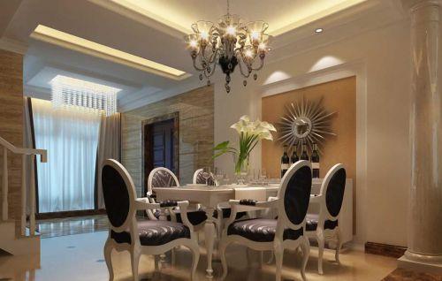 餐厅欧式设计窗帘图片