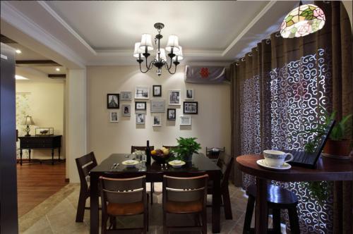 美式餐厅照片墙设计图片