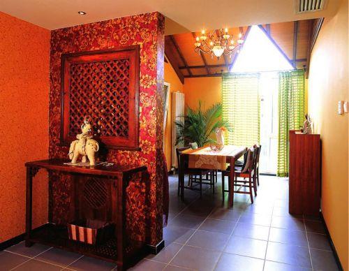 混搭风格餐厅窗帘装修设计