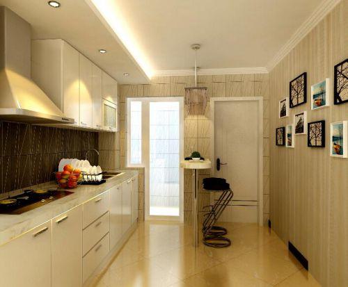 现代简约风格别墅厨房照片墙设计