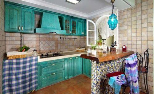 93平老房翻新别样东南亚风格厨房
