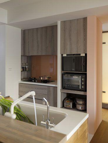88平米简约日式风格厨房背景墙装修效果图