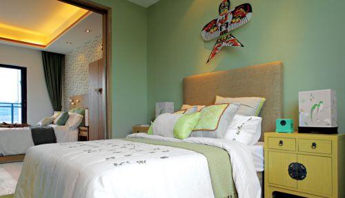 青草绿色调装饰儿童房卧室图