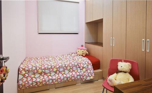 儿童房榻榻米床效果图
