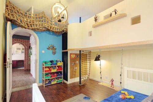 美式田园风格儿童房效果图
