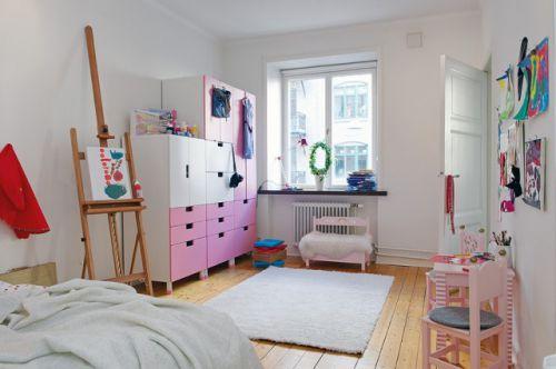 简欧风格粉色儿童房效果图片