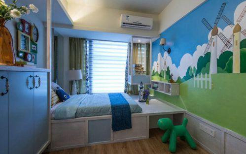 混搭格调三居室装修儿童房卧室图片