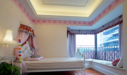 高大上公寓儿童房飘窗设计