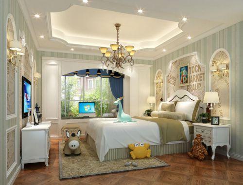 大气美式风格四居室儿童房吊顶设计